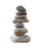 Piedras de la balanza apiladas a la pirámide Fotos de archivo libres de regalías