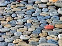Piedras de la palabra Imagen de archivo libre de regalías