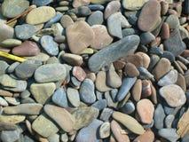 Piedras de la playa del río Imagen de archivo libre de regalías