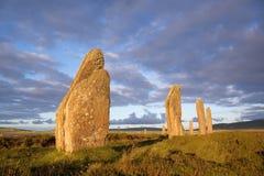 Piedras de la puesta del sol Fotografía de archivo libre de regalías