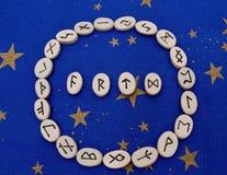 Piedras de la runa Imágenes de archivo libres de regalías