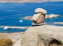 Piedras de la serenidad en el acantilado Fotografía de archivo