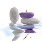 Piedras de la vela y del río Imágenes de archivo libres de regalías