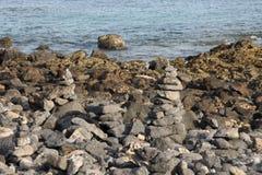 Piedras de las trayectorias Foto de archivo
