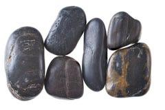 Piedras de los guijarros en el fondo blanco fotografía de archivo libre de regalías