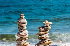 Piedras de los mares foto de archivo libre de regalías