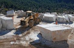 Piedras de mármol de la mina Imagen de archivo