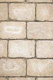 Piedras de pavimentación amarillentas Foto de archivo