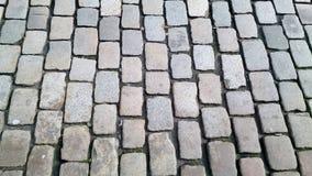 Piedras de pavimentación cobbled grandes foto de archivo