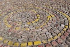 Piedras de pavimentación coloridas Imagen de archivo libre de regalías