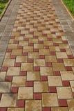 Piedras de pavimentación de piedra integradas foto de archivo