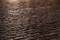 Piedras de pavimentación en la noche Fotos de archivo libres de regalías