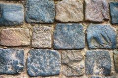 Piedras de pavimentación grises como fondo, visión superior fotos de archivo