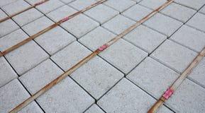 Piedras de pavimentación llenas foto de archivo