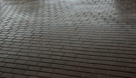 Piedras de pavimentación mojadas Textura mojada de la losa Imagen de archivo