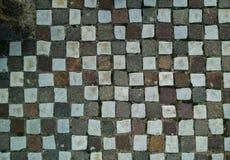 Piedras de pavimentación regulares Foto de archivo