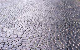 Piedras de pavimentación viejas Fotos de archivo
