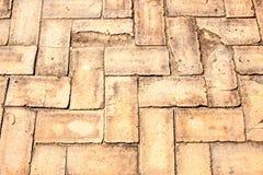 Piedras de pavimentación viejas del ladrillo Imagen de archivo libre de regalías