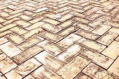 Piedras de pavimentación viejas del ladrillo Fotografía de archivo