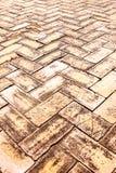 Piedras de pavimentación viejas del ladrillo Imágenes de archivo libres de regalías