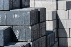 Piedras de pavimentación grises Foto de archivo