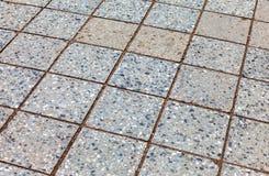 Piedras de pavimentación grises como fondo Imagen de archivo libre de regalías