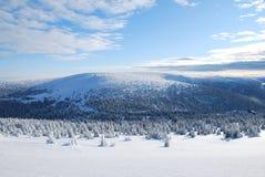 Piedras de Petrovy Kameny Peters en invierno Fotografía de archivo