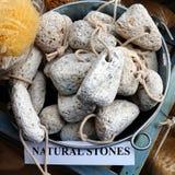 Piedras de piedra pómez formadas, Grecia Fotografía de archivo libre de regalías