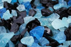 Piedras decorativas coloreadas Foto de archivo libre de regalías