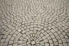 Piedras del adoquín en círculo Foto de archivo libre de regalías