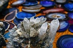 Piedras 4 del cristal imagen de archivo