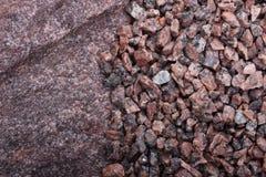 Piedras del granito, fondo de las rocas Fotos de archivo