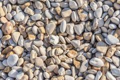 Piedras del guijarro en la orilla Fotografía de archivo libre de regalías