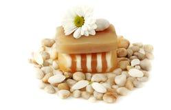 Piedras del jabón, de la flor y del mar Imágenes de archivo libres de regalías