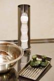 Piedras del jade para el masaje Fotografía de archivo
