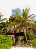 Piedras del La Digue Seychelles imágenes de archivo libres de regalías