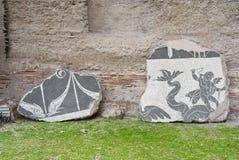 Piedras del mosaico en Roma. Fotografía de archivo