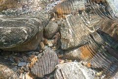 Piedras del río Foto de archivo libre de regalías
