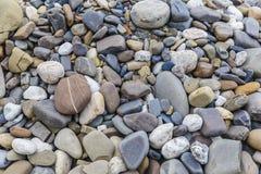 Piedras del río en la orilla Imágenes de archivo libres de regalías