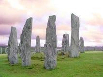 Piedras derechas de Callanish Foto de archivo libre de regalías