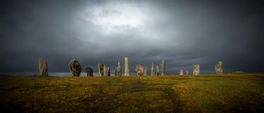 Piedras derechas de Callanish Foto de archivo