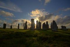 Piedras derechas de Callanish Imagen de archivo libre de regalías
