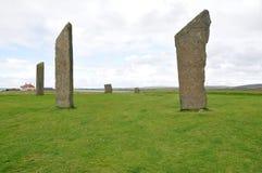 Piedras derechas de Stenness Imagen de archivo