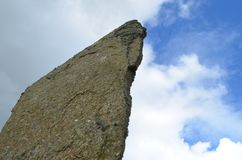 Piedras derechas de Stenness, megalitos neolíticos en la isla del continente las Orcadas, Escocia Foto de archivo libre de regalías