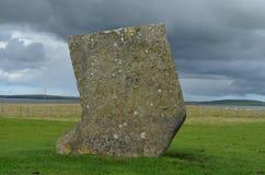 Piedras derechas de Stenness, megalitos neolíticos en la isla del continente las Orcadas, Escocia Fotos de archivo libres de regalías