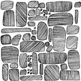 Piedras dibujadas mano del vector Fotos de archivo