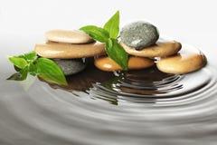 Piedras en agua Foto de archivo