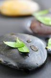 Piedras en agua imagenes de archivo
