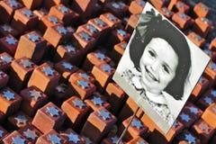 102 000 piedras en campo del tránsito de Westerbork Fotografía de archivo libre de regalías