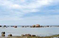 Piedras en el mar Fotografía de archivo